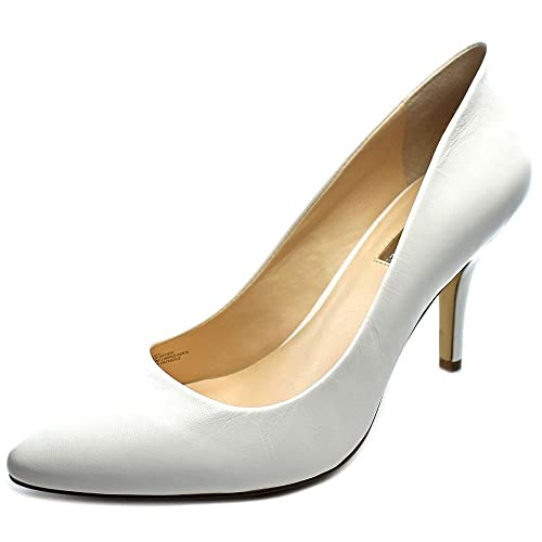 INC International Concepts Womens Zitah Leather Pointed Bright White Size 7.5