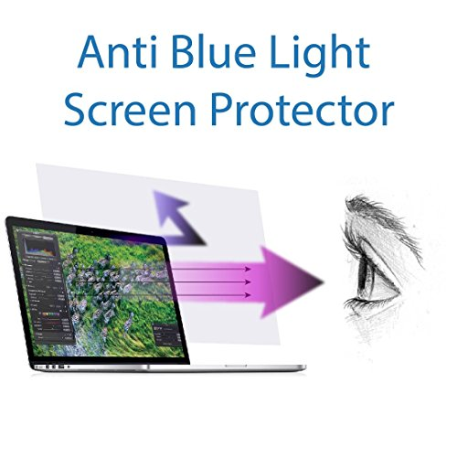 Anti Blue light screen protector (2 pack) for Macbook Pro 13 inch model number A1706 & A1708. Filter out Blue Light and relieve computer eye strain to help you sleep better by EZ-Pro Screen Protector