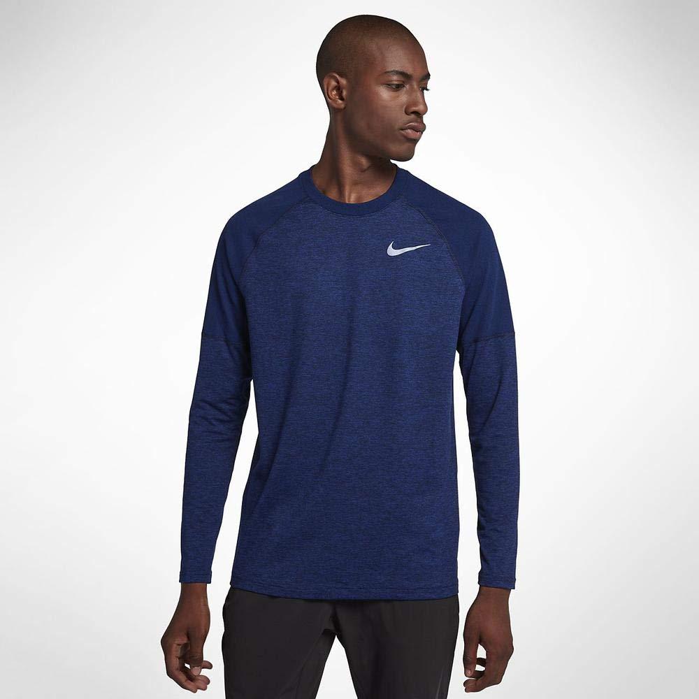 Obsidian bleu Void Htr XL Nike M NK Elmnt Crew T- T-Shirt à Manches Longues Homme