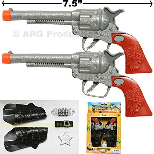 Western Cowboy 2 Cast Clicker-Gun with all accessories 10 pieces -