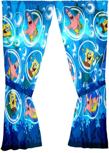 Sponge Bob Playful Bubbles 63-Inch Drape ()