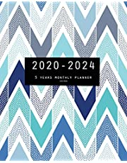 2020-2024 Five Year Planner-Chevron: 60 Months Calendar, 5 Year Monthly Appointment Notebook, Agenda Schedule Organizer Logbook and Business Planners with Federal Holidays
