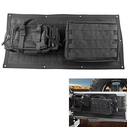 Tailgate Bag Case Cover for 2007-2015 Jeep Wrangler JK Tool Organizer Pockets