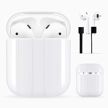 Caja protectora de Darangs AirPods Caja cubierta de PC duro para Apple AirPods con cinta de auriculares: Amazon.es: Electrónica