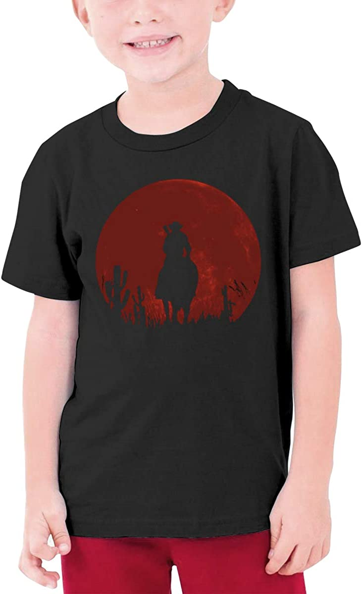 Alffe Red-Dead-Redemption T-Shirt Boy Kids O-Neck 3D Printing Youth Fashion Tops