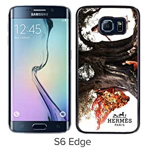 Beautiful And Unique Designed Case For Samsung Galaxy S6 Edge With Hermes 3 Black Phone Case