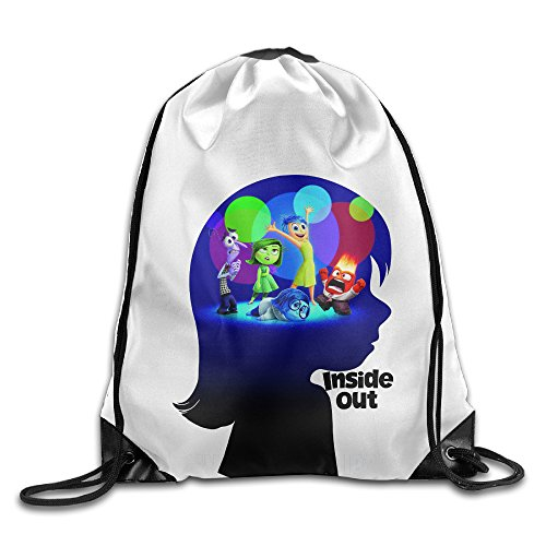 Bekey Inside Out 2015 Little Girl Gym Drawstring Backpack Bags For Men & Women For Home Travel Storage Use Gym Traveling Shopping Sport Yoga Running