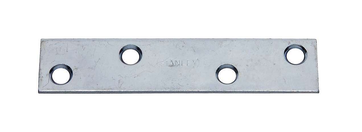4 By 7/8 Inch Zinc Plated Steel Mending Plate