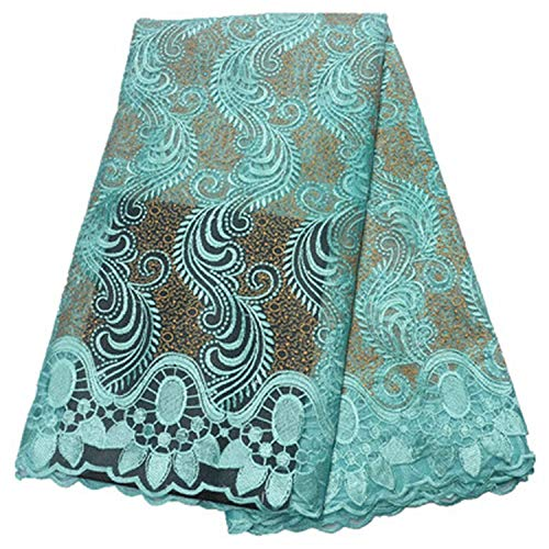 - Teal Lace Fabric Lace Nigerian Lace Fabric for Women Dress African Tulle Lace with Stones 5Yards Per Piece,Ps751213F607