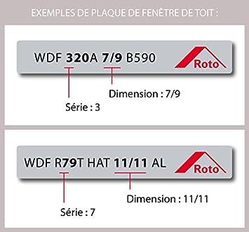 Dimensions 5//7 Store occultant pour fen/être de Marque Roto S/éries 3 et 5 Beige Rolstores