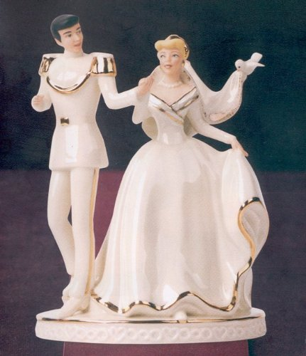 LENOX DISNEY CINDERELLA A Magical Moment Cake Topper by Lenox