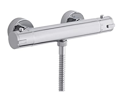 Premier Ity309 Traditional Dual Exposed Thermostatic Shower Valve.Premier A3091e Chrome Victorian Traditional Dual Thermostatic Shower Valve