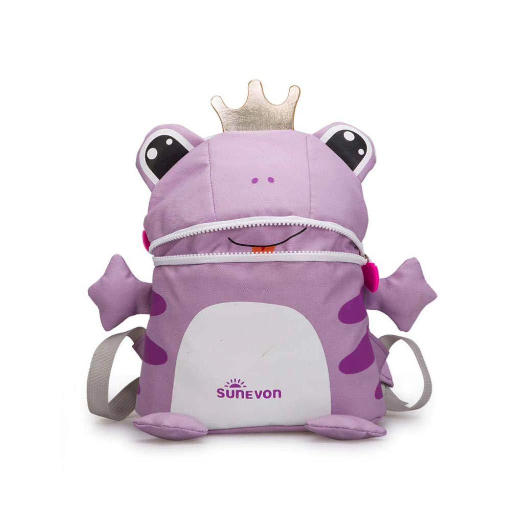 Vertily Kids Backpack Children Elementary Preschool Book Bags, Cartoon Frog (Purple) by Vertily Bag