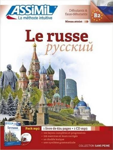 Le Russe sans Peine [ Russian for French Speakers ] Book + 1 CD MP3 (Russian Edition)