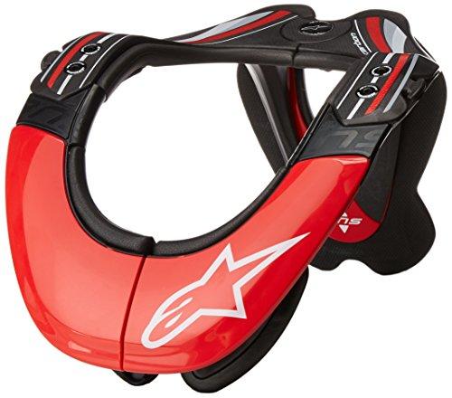 Alpinestars Bionic Neck Support - Alpinestars Men's Bans Tech Neck Support, Anthracite/Red, X-Small/Medium