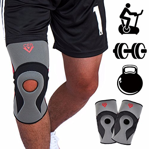FITTOO Compression Knee Brace (Single) Open Patella Stabilizer for Pain Relief Sprains and Injury Recovery - Next Tracking Day Air