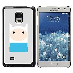 Carácter cómico del gris azul lindo dulce - Metal de aluminio y de plástico duro Caja del teléfono - Negro - Samsung Galaxy Mega 5.8
