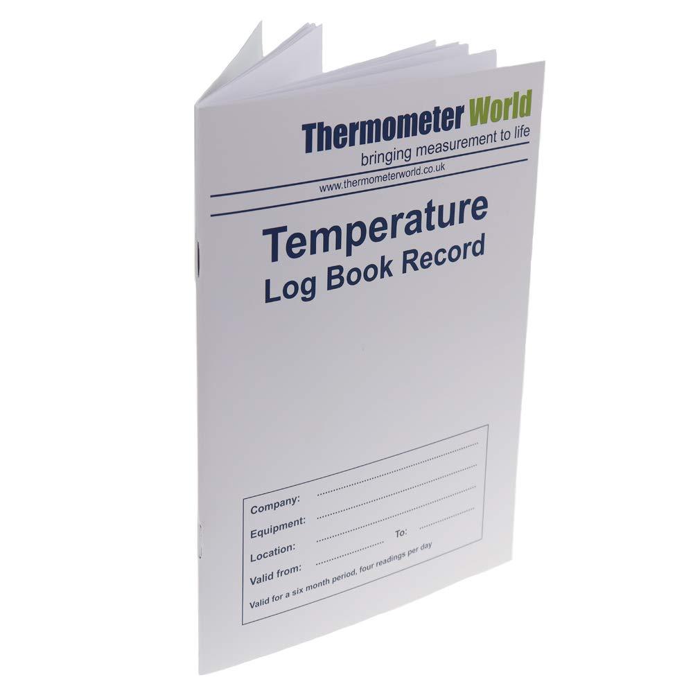 Term/ómetro de refrigerador. Libro de registro de temperatura con term/ómetro de nevera y alarma de advertencia y funci/ón de m/áxima min
