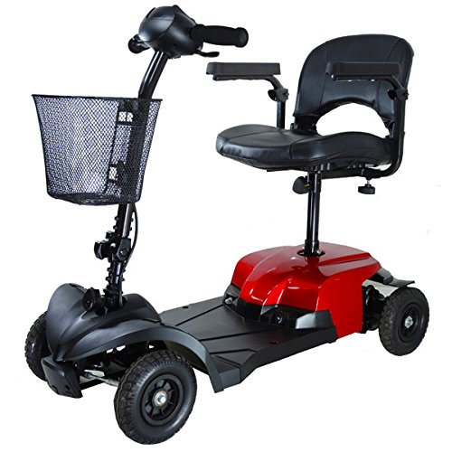 Drive Medical Bobcat 4-Wheel Compact Transportable Scooter - Red