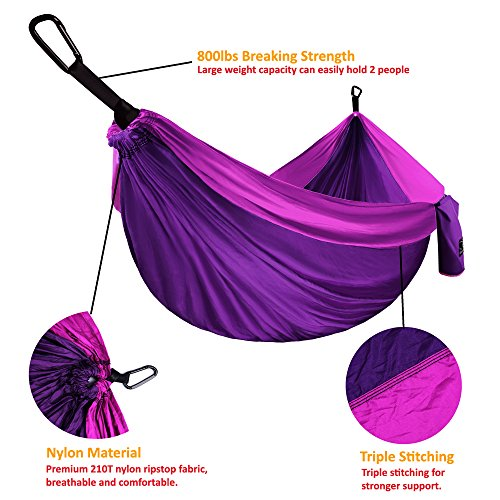 Separating Lightweight Outdoor Double Bug Mosquito Hammock Net Dual Sided Hiking