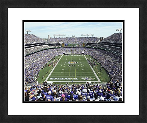 """NFL Baltimore Ravens M&T Bank Stadium, Beautifully Framed and Double Matted, 18"""" x 22"""" Sports Photograph"""