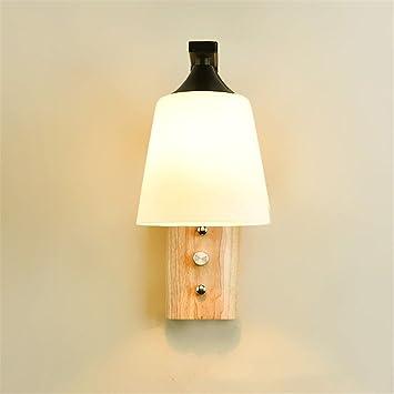 Nordique Chambre À Li Bois Bajian Lampe De Chevet Coucher Moderne 4jLR35A