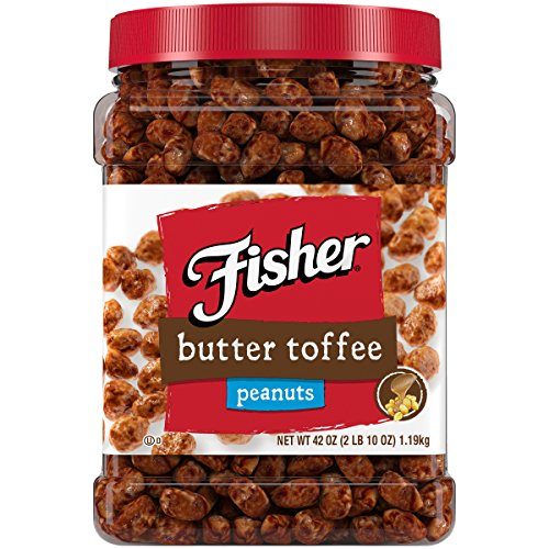 FISHER Snack Butter Toffee Peanuts, 42 oz (Pack of -