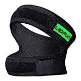 Lepfun P3000 Patella Knee Strap,Adjustable Dual Strap Band Brace for Knee Support- Fit Running, Basketball and Arthritis.Black(1 Piece),11'' - 22'' (Large)