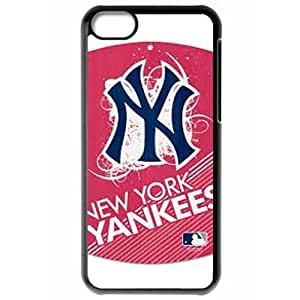 MLB Iphone 5C Black New York Yankees cell phone cases&Gift Holiday&Christmas Gifts NBGH6C9126520