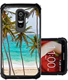 lg g2 custom case - CorpCase LG G2 Case - Tropical palm tree on beach/ Hybrid Unique Case With Great Protection
