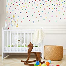 """2"""" Mini Confetti Bright Colored Polka Dots Wall Decals Stickers Repositionable Peel and Stick"""