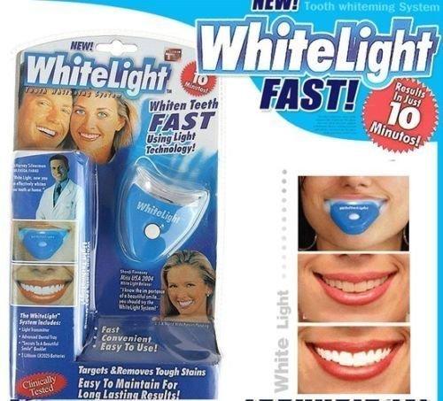 WHITE LIGHT HOME KIT TEETH TOOTH WHITENING GEL SUPER BRIGHT ORAL BLEACHING LED