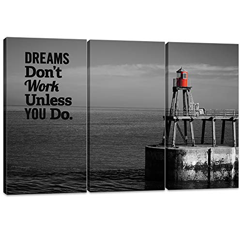 Innopics 3 Piece Dream Inspirational Quotes Canvas