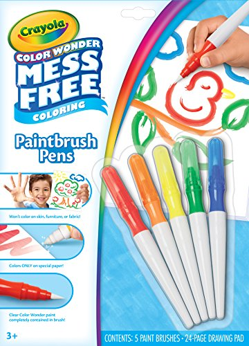 Crayola Color Wonder Mess Free Paintbrush Pens & Paper, Painting for Kids, Gift ()
