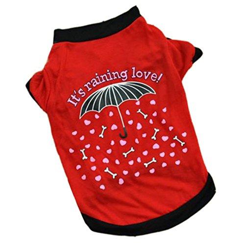 haoricu Puggy Clothes, Summer Pet Small Dog Cat Pet Clothes Vest T Shirt Apparel (M)