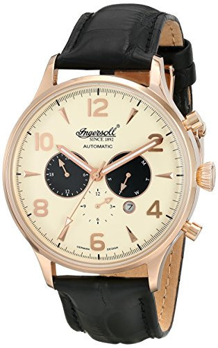 Ingersoll Men's IN1309RCR Golden Age Analog Display Automatic Self Wind Black Watch