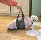 Cinf Cat Pet Supply Grooming Bag Restraint Bag Cats Nail Clipping Cleaning Grooming Bag,No Scratching Biting Restraint for Bathing Nail Trimming Injecting Examining,(Pink,S)
