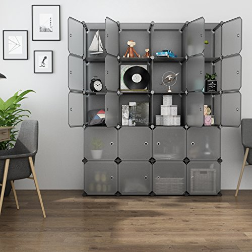 Cheap  LANGRIA 20 Cube Organizer Stackable Plastic Cube Storage Shelves Design Multifunctional Modular..