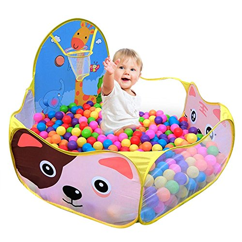 [Parit Ball Pit Pool Kids Child Toy Ocean Playpen Game Baby Foldable Fun And Party Indoor Outdoor] (Target Cowboy Dog Costume)