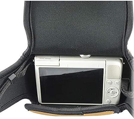 Marrón Funda Camara de Fotos Digital Camara Reflex Neopreno Estuche para Canon EOS M6 Mark II EOS M6 18-150mm f/3.5-6.3: Amazon.es: Electrónica