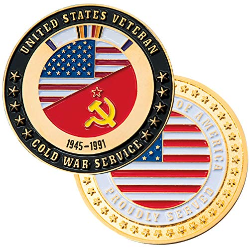 Medals of America Cold War Veteran USA/Soviet Challenge Coin Multicolored ()