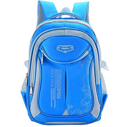 Macbag School Backpack Bookbag Durable Camping Backpack for Boys and Girls (Sky Blue)