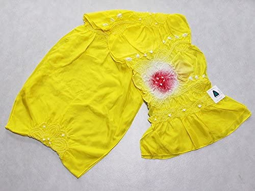 正絹兵児帯 黄色の帯 絹のへこ帯 浴衣用 七五三用 ちょっぴり理由あり D0608-09