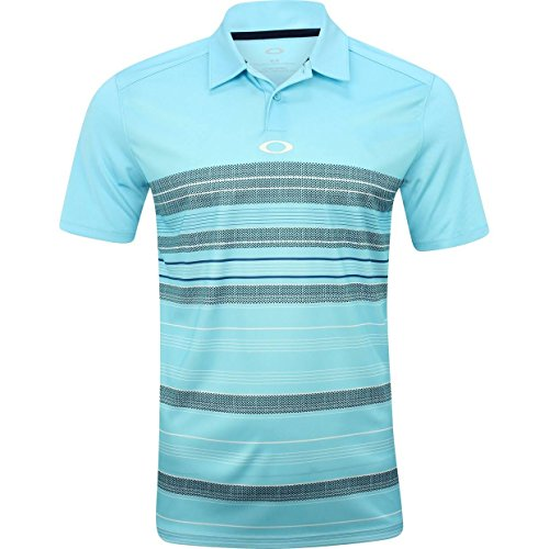Oakley Men's High Crest Polo, Bright Cerulean, XL