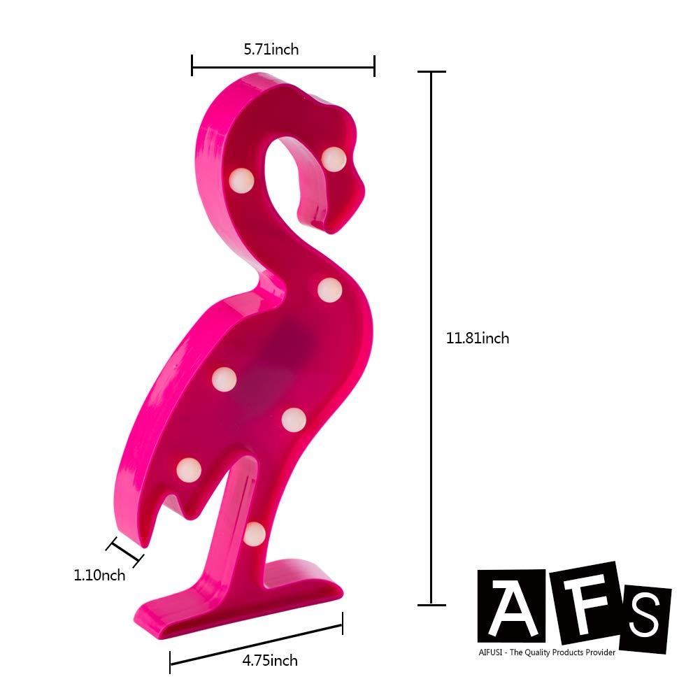 LED Lichtdeko 3er Set Flamingo Kaktus Einhorn Nachtlicht Tischlicht Wandleuchte