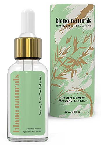 Blanc Naturals Hydrating Anti Aging Wrinkle Remover Vitamin C Brightening Serum for Face with Hyaluronic Acid, Vitamin E and Organic Bamboo, Green Tea, and Aloe Vera Extracts