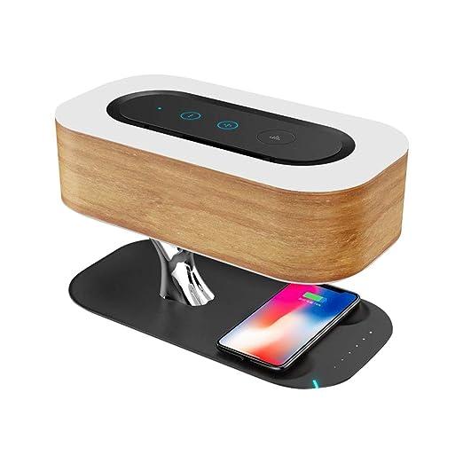 Altavoz Bluetooth de madera con cargador inalámbrico QI ...