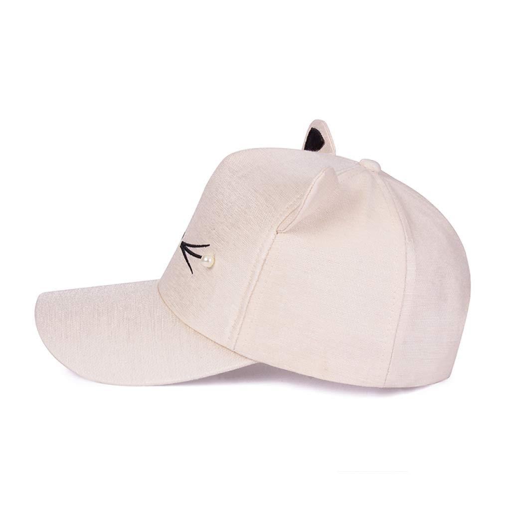 Fashion Brand Baseball Cap Adjustable Lovely Embroidery Cap Cat Ears Cap Men Women Pearl Baseball Caps Girls