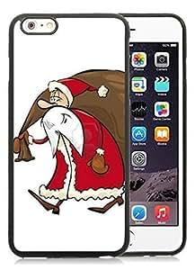 2014 New Style iPhone 6 Plus Case,Santa Claus Black iPhone 6 Plus 5.5 TPU Case 21