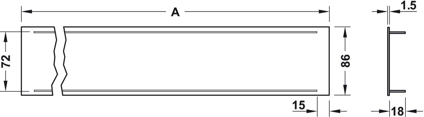 /LARGEUR 86/mm/ Plaque da/ération rectangulaire grille da/ération en aluminium Blanc RAL 9010/Chevalet T/ôle Meubles /& grille de porte ovale/ / /h6003/| Longueur 400/mm/